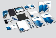 Corporate Identity Mockup PSD to present your branding design in a photorealistic look. Contains special layers and smart object for your artworks. Corporate Identity Design, Brand Identity Design, Branding Design, Identity Branding, Visual Identity, Brochure Design, Brochure Template, Web Design, Design Logo