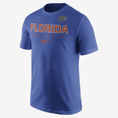 REPRESENT YOUR TEAM The Nike Practice (Florida) Men's T-Shirt pays homage to your favorite team with a school graphic on soft, comfortable cotton. Product Details Rib crew neck with interior taping Fabric: 100% cotton Machine wash Imported