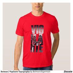 Batman | Vigilante Typography T-shirt