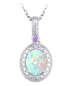 Another great find on #zulily! Teal Opal & Sterling Silver Circle Pendant Necklace #zulilyfinds
