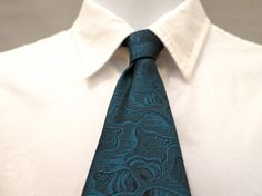 Teal Blue Skinny Necktie