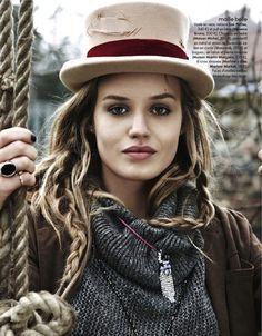 love the random braids under a hat