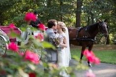 Saratoga Springs has such a neat property + unique things to offer - like carriage rides! | Charlotte wedding, Charlotte wedding vendors, NC wedding, NC wedding vendors, elegant, storybook wedding, elegant, lavender, pink, classic | Venue @saratogasprings Attire @mwtuxedo, @louboutinworld, @morileebridal + @mikaellabridal