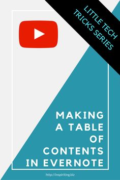 Video: Making a Table of Contents in Evernote