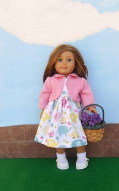 American Girl Doll Clothes Summer Doll Dress Doll by DonnaDesigned, $25.00 https://www.etsy.com/listing/184735690/american-girl-doll-clothes-summer-doll? #americangirl #18inchdoll