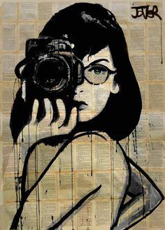 "Saatchi Art Artist Loui Jover; Drawing, ""the photographer (SOLD)"" #art"