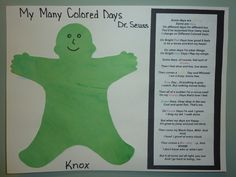 My many colored days my preschoolers 2 yrs easel painted with
