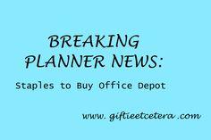Giftie Etcetera: Breaking Planner News