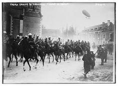"""French Cavalry & the dirigible """"Dupuy de Lôme"""" WW1."""