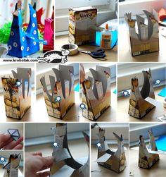 EL MUNDO DEL RECICLAJE: DIY recicla una caja de cereales