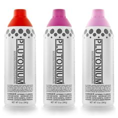 Red Alert, Vegas & Manko. (Great Valentine's Day colors!) Plutonium™ Paint --> #SprayPaint #MadeInTheUSA #DIY #Art #Crafts