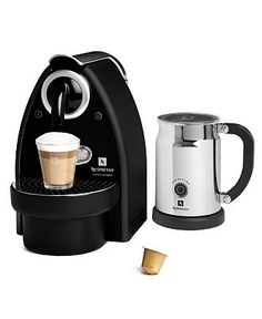 I love my Nespresso machine and milk frother.  I never have to buy another coffee again!