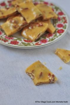 Butter Pecan Brittle  --  like peanut brittle, only with pecans.