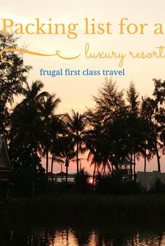One bag travel: packing for a luxury travel resort vacation