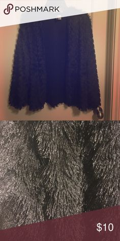 Black Jacket Great for holidays & parties! Super soft! Divided Jackets & Coats