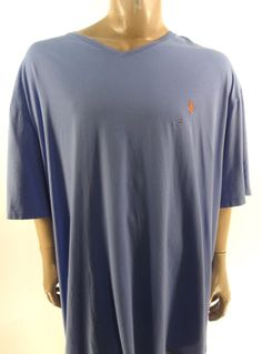 POLO RALPH LAUREN $49.50 PURPLE V-NECK SHORT SLEEVE T-SHIRT 3XLT BIG AND TALL #PoloRalphLauren #BasicTee