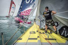 February 05, 2015. Onboard Team Brunel during the Practice Race in Sanya Stefan Coppers/Team Brunel/Volvo Ocean Race