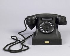 Vintage black bakelite phone Everything 1940s Pinterest