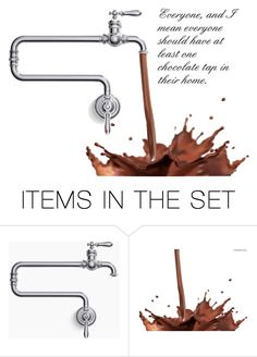 """Chocolate On Tap"" by sjlew ❤ liked on Polyvore featuring art"
