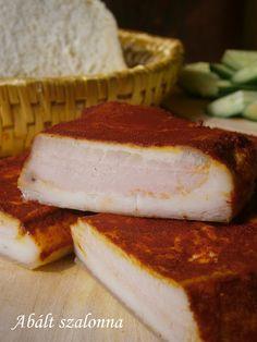 Abált szalonna 🍴 Arancini, Pickling Cucumbers, Hungarian Recipes, Pork Chops, Pork Recipes, Pickles, Grilling, Cheesecake, Sandwiches