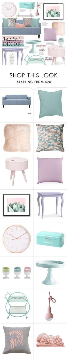 """""""Pastel Decor"""" by chocolate-addicted-angel ❤ liked on Polyvore featuring interior, interiors, interior design, home, home decor, interior decorating, Gallery, Bloomingville, Bluebellgray and Redford House"""