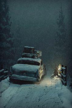 ArtStation - Foggy Winter, James O'Brien (Vadim Ignatiev)