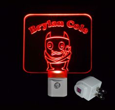 Kids Personalized #Monster LED Night Light, Childrens Decor by Unique LED Products #personalizedgift #LED #CLEVELAND