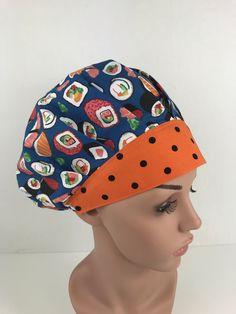 Sushi Rolls Bouffant Hat – Oksana's Creations