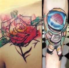 Water colored tattoos