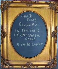 Old Things New: 3 Homemade Chalk Paint Recipes Reviewed