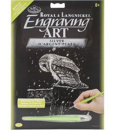New Royal /& Langnickel Animals Silver Scraper Foil Engraving Art Kit /& Tool Box