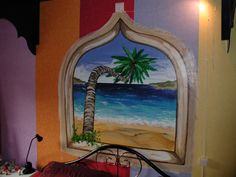 muurschilderij slaapkamer