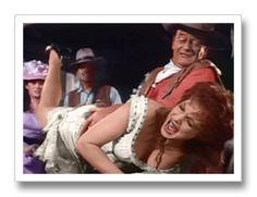 Maureen O'Hara nd John Wayne