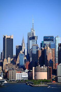 New York City Skyline. That's the Chrysler Building halfway across town. Fine Art Photography.
