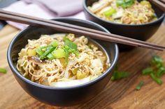 Miso Mie-Nudel-Suppe mit Chinakohl und Shiitake