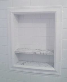 Wall Tile For Niche With Marble Ledges Bathroom Renos Master