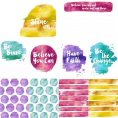 FREE Watercolor Project Life Cards from Sweet Rose Studio