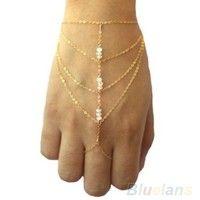 Buy Celebrity Multi Chain Tassel Bracelet Bangle Slave Finger Ring Hand Chain Harness Gold, cute, women's fashion , fashion jewelry at Wish - Shopping Made Fun Slave Bracelet, Hand Bracelet, Gold Bangle Bracelet, Bridal Bracelet, Link Bracelets, Jewelry Bracelets, Gold Bangles, Beaded Bracelet, Silver Bracelets