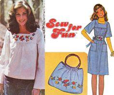 70s Boho Top Dress Belt Bag Pattern by allthepreciousthings