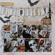 #papercraft #scrapbook #layout    Nichol's Spooky Haunted House