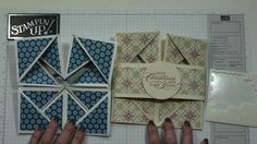 Napkin Fold card with Dawn. Great for our save the date cards