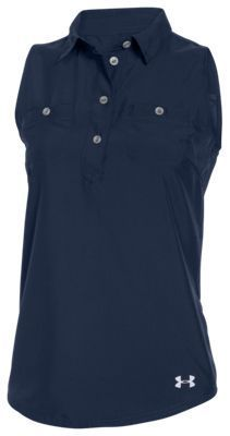 Under Armour CoolSwitch Kyro Amalgam Sleeveless Shirt for Ladies - Navy Seal - L