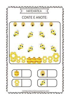 Numbers Kindergarten, Numbers Preschool, Preschool Math, Interactive Activities, Creative Activities, Preschool Activities, Spring School, Math Vocabulary, Bee Movie