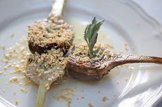 Alcachofas confitadas al foie, Restaurante Masia La Mota, Alcoy