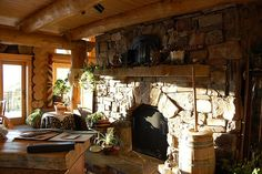 Awesome kitchen fireplace!