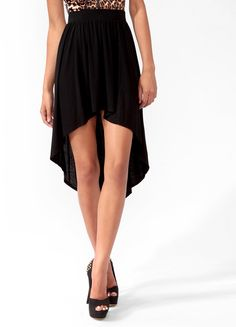 #Forever21                #Skirt                    #High-Low #Knit #Skirt    High-Low Knit Skirt                                 http://www.seapai.com/product.aspx?PID=103232