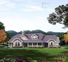 Country Ranch House Plan 95870 Elevation