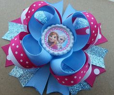Disney Frozen Inpired Boutique Layered Hair Bow by DLovelyBOWtique, $8.99