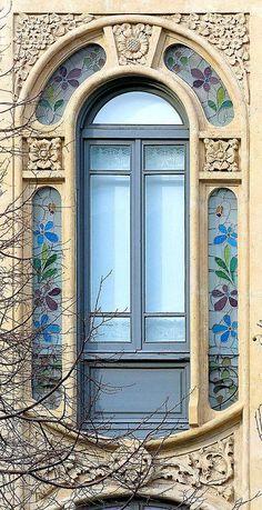 Stained glass window Barcelona, España