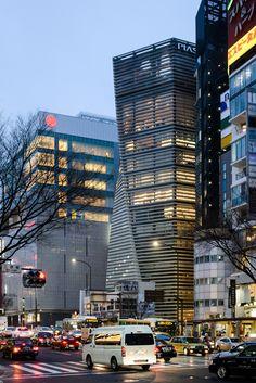 Architect : Kume Sekkei (設計:久米設計). Contractor : Kajima Corporation, Zenidaka Corporation (施工:鹿島建設・錢高組JV). Completed : 2009 (竣工:2009年) Height : 183ft (高さ:56m). Floor : 12th (地上12階). Location : 4-8-8, Ginza, Chuo Ward, Tokyo, Japan (所在地:日本国東京都中央区銀座4-8-8).